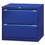 Armoire pour dossiers suspendus Bisley 2 rangées Bleu 800 x 622 x 711 mm
