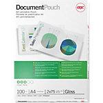 Pochette de plastification GBC brillant 2 x 75 (150) µm transparent 100 unités