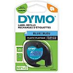 Ruban d'étiquettes DYMO LetraTag 91205 12 mm x 4 m Noir sur Bleu Plastique