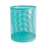 Corbeille à papier Foray Acier, plastique Turquoise 24 x 29 cm