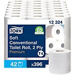Papier toilette Tork T4 Premium 2 épaisseurs 42 Rouleaux de 396 Feuilles
