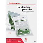 Pochettes de plastification Office Depot mat 150 µm transparent 100 unités