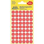 Pastilles autocollantes AVERY Zweckform 3141 Rouge Ø 12 mm 5 Feuilles de 54 Étiquettes