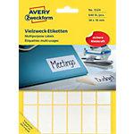 Étiquettes universelles AVERY Zweckform 3324 Blanc 38 x 18 mm 27 Feuilles de 24 Étiquettes