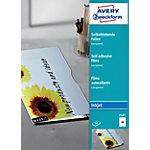 Films autocollants Avery 2501 A4 21 x 29,7 cm Transparent Rectangulaire 50 feuilles