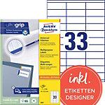 Étiquettes multifonctions AVERY Zweckform 3421 A4 Blanc 70 x 25.4 mm 100 Feuilles de 33 Étiquettes