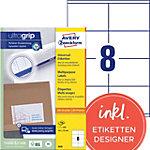 Étiquettes universelles AVERY Zweckform 3426 A4 Blanc 105 x 70 mm 100 Feuilles de 8 Étiquettes