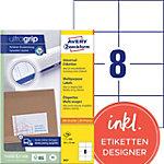 Étiquettes universelles AVERY Zweckform 3427 A4 Blanc 105 x 74 mm 100 Feuilles de 8 Étiquettes