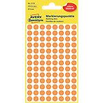 Pastilles autocollantes AVERY Zweckform 3178 Orange intense Rond Ø 8 mm 4 Feuilles de 104 Étiquettes
