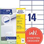 Étiquettes universelles AVERY Zweckform 3477 A4 Blanc 105 x 41 mm 100 Feuilles de 14 Étiquettes