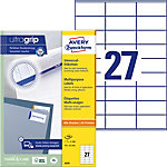 Étiquettes multifonction AVERY Zweckform 3479 70 x 32 mm Blanc 70 x 32 mm 100 Feuilles de 27 Étiquettes
