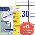 Étiquettes universelles AVERY Zweckform 3489 Blanc 70 x 29.7 mm 100 Feuilles de 30 Étiquettes