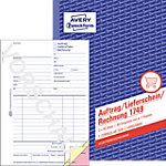 Bon de livraison, commande, facture AVERY Zweckform 1749 Blanc, jaune, rose A5 14,8 x 21 cm 40 Feuilles