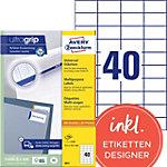 Étiquettes universelles AVERY Zweckform 3651 A4 Blanc 52.5 x 29.7 mm 100 Feuilles de 40 Étiquettes