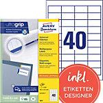 Étiquettes universelles AVERY Zweckform 3657 A4 Blanc 48.5 x 25.4 mm 100 Feuilles de 40 Étiquettes