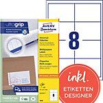 Étiquettes universelles AVERY Zweckform 3660 A4 Blanc 97 x 67,7 mm 100 Feuilles de 8 Étiquettes