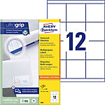 Étiquettes universelles AVERY Zweckform 3661 Ultragrip Blanc A4 70 x 67,7 mm 100 Feuilles de 12 Étiquettes