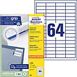 Étiquettes universelles AVERY Zweckform 3667 A4 Blanc 48.5 x 16.9 mm 100 Feuilles de 64 Étiquettes