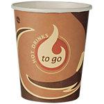 Gobelets jetables PAPSTAR To Go Carton 180 ml Marron 80 Unités