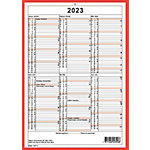 Calendrier mural Simplex 4032040 A4 2020 Blanc, rouge