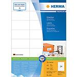 Étiquettes universelles Premium HERMA 4453 Blanc A4 70 x 36 mm 100 Feuilles de 24 Étiquettes 4453 4453