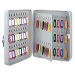 Armoire à clés Office Depot gris 80 crochets 24 x 8 x 30 cm