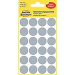 Pastilles autocollantes AVERY Zweckform 3171 Gris Rond Ø 18 mm 4 Feuilles de 24 Étiquettes