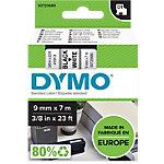 Étiquettes DYMO D1 Noir sur Blanc 9 mm x 7 m