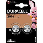 Piles bouton Duracell CR2016 3V Lithium 2 Unités