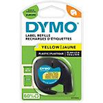 Ruban polyestère Dymo 12mm x 4 m noir sur jaune