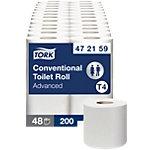 Papier toilette Tork T4 Advanced 2 épaisseurs 48 Rouleaux de 200 Feuilles