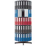 Colonne rotative Moll Depotfile® 5 niveaux 120 classeurs gris 80 x 192 x 192 cm