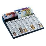 Caisse a monnaies Wedo Euro Gris 280 x 270 x 60 mm