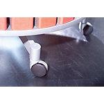 Lot de roulettes Moll pour tableaux tournants de 2 à 4 étages 4 niveaux gris 6.7 cm 5 unités