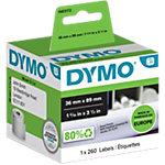 Rouleau d'étiquettes d'adresses DYMO LW 1983172 36 mm Noir sur Blanc 260 Unités