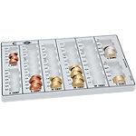 Plateau à monnaie WEDO Europe Blanc 266 x 160 x 30 mm
