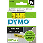 Étiquettes DYMO 45018 Noir sur Jaune 12 mm x 7 m