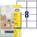 Etiquettes d'adresse AVERY Zweckform J8165 25 QuickDry Spécial Blanc 99,1 x 67,7 mm 8 Feuilles de 25 Étiquettes