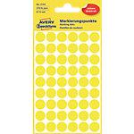 Pastilles autocollantes AVERY Zweckform 3144 Jaune Rond Ø 12 mm 5 Feuilles de 54 Étiquettes
