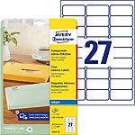 Étiquettes universelles Avery Zweckform J4721 25 QuickPEEL Transparent 63,5 x 29,6 mm 27 Feuilles de 25 Étiquettes