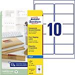 Étiquettes d'adresse jet d'encre Avery QuickPEEL™ Transparent 96 x 50,8 mm 25 Feuilles