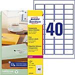 Étiquettes d'adresse AVERY Zweckform QuickPEEL™ Transparent 45,7 x 25,4 mm 25 Feuilles