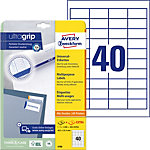 Étiquettes universelles AVERY Zweckform 4780 A4 Blanc 48.5 x 25.4 mm 30 Feuilles de 40 Étiquettes