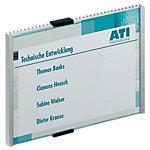 Plaque de porte DURABLE Aluminium, acrylique 14.9 x 5.3 cm
