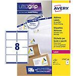 Étiquettes d'adresse Avery L7165 100 Autocollantes 99,1 x 67,7mm Blanc 100 Feuilles de 8 Étiquettes