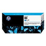 Tête d'impression HP D'origine 80 Cyan C4821A