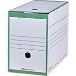 Boîtes archives Office Depot A4 Vert Carton 16,7 x 33,5 x 24,5 cm 25 Unités