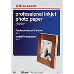 Papier photo jet d'encre Office Depot Professional blanc brillant 280 g