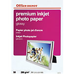 Papier photo jet d'encre Office Depot Premium Blanc Brillant 280 g