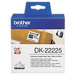 Rouleau d'étiquettes Brother DK22225 38 mm x 30.5 m Blanc 1  de  Étiquettes